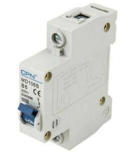 Cudis CPN MD106B 6 Amp Type B Single Pole 230V 6kA B6 Circuit Breaker MCB