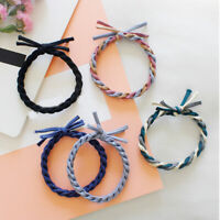 Handmade Woven Colorful Elastic Scrunchie Hair Rope Ties Ponytail Hair Accessory