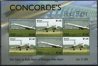 Bequia Gren St Vincent Concorde Stamps 2007 MNH Final Flight F-BVFA Paris 6v M/S