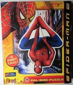 Spider-man 2 Floor Puzzle 46 Pieces 3 Feet Tall Hanging Pal Size 4+ Marvel Boys