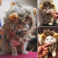 Furry Pet Hat Lion Mane Wig For Cat Halloween Dress Up With Ears Festival Party
