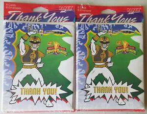 16 Vintage Power Rangers White Ranger Thank You Cards