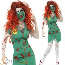 Ladies Zombie Nurse Costume Halloween Horror Scrubs Fancy Dress Outfit