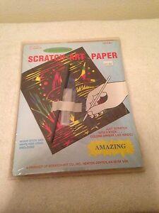NEW SEALED SCRATCH-ART PAPER MULTI-COLOR