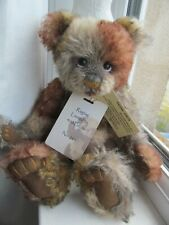 RETIRED MOHAIR CHARLIE BEAR RAGTAG WITH TAGS AND NECKLACE..DISPLAYED ONLY 12""