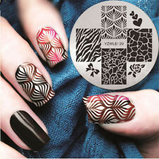 Nail Art Stamping Plates Image Plate Decoration Roses Flowers Bows Heart Yzwle20