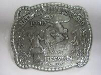 National Finals Rodeo Hesston 1996 NFR Adult Cowboy Buckle, Vintage, Orig. Pkg.