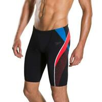 "New Mens Speedo Fit Splice Swimming Jammers Shorts trunks 38"" waist Black"