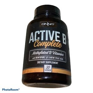 Onnit Active B Complete 30 capsules Sealed Bottles EXP 3/19+