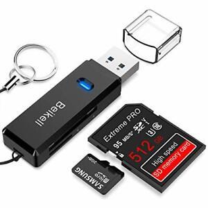 Lecteur de Carte USB 3.0, Beikell Lecteur de Carte Mémoire SD/Micro SD Haute Vit