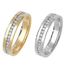 Diamond Set Wedding Ring 9ct Yellow Or White Gold - Hallmarked 25 points 1/4 ct