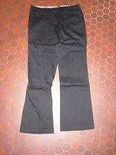 Pantalon noir satiné classe coupe droite femme CACHE CACHE taille 38