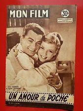 22/01/58 MON FILM n°596 JEAN MARAIS et AGNES LAURENT dans UN AMOUR DE POCHE