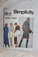 Simplicity Sewing Pattern 8873 Misses Dress Tunic Pants Size 6-12