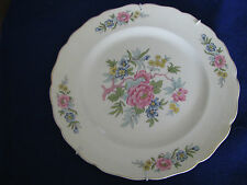 """Canonsburg The Hallmark of Quality 10"""" Floral Dinner Plate"""