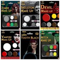 Halloween Face Paint Kits Zombie Witch Devil Vampire Fancy Dress Make Up Party