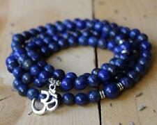 Natural lapis lazuli stone beads 8 mm mala cuff bracelet 108 men yoga meditation