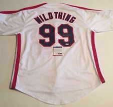 Charlie Sheen Autographed Wild Thing Cleveland Indians Jersey PSA/DNA COA