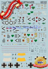 """Print Scale 72-048 """" Wet Decal for Me 109F-2 Luftwaffe """" Model Decals 1/72"""