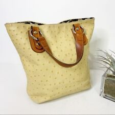 Maurizio Taiuti Ostrich Italian Leather Yellowish Camel Bag Women's One Size