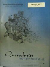 * RENAULT 4CV 4 CV Cremeschnittchen 1948 - 1960 Reparaturanleitung   *