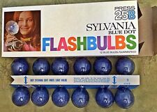 (12) Flash Bulbs Sylvania 25B Press Blue Dot