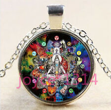 Yoga Jewelry, Om Necklace, Om Symbol, Buddhism, Zen, Meditation,Silver #4488