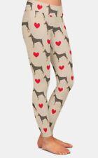 Warm ladies Doberman Pinscher Dog leggings design 3 sizes by mydogsocks ltd