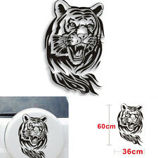 60CM x 36 CM Creative Personality Tiger Car Hood Spare Decals Stickers Black