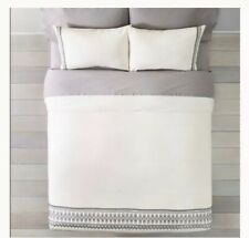Nip Hearth & Hand Magnolia Embroidered Linen Blend Duvet Cover Set - Twin