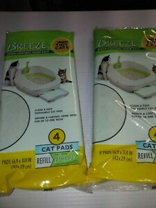 NEW Tidy Cats Breeze Cat Pads 2 Pack of 4 Pads Control Refill