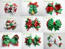 2016 Wholesale Christmas Gift 9pc Baby Girl Hair Bow Boutique Clip 011-019-A