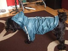 High Quality Dog Raincoat Fleece Lined Waterproof Unisex Size S Hi Vis Panels