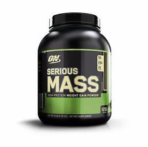 OPTIMUM NUTRITION Serious Mass, Weight Gainer Protein Powder, Chocolate, 6 LB