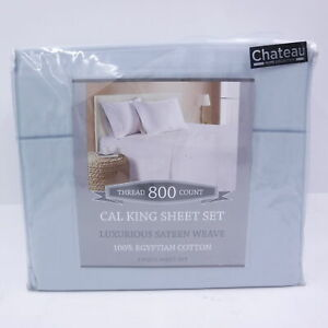 Chateau Home Collection 4 Piece Sheet Set California King Solid Sateen Weave