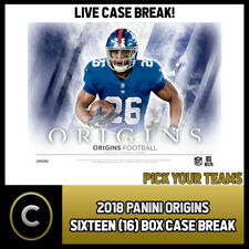 2018 PANINI ORIGINS FOOTBALL 16 BOX CASE BREAK #F574 - PICK YOUR TEAM