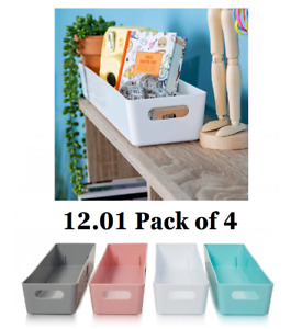 Wham Studio Basket Office 12.01-40 cm Pack of 4 Mrs Hinch Bathroom Kitchen Home