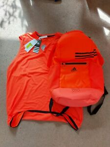 Adidas Bundle - Climacool Backpack, Climachill Vest, Sweatbands & Shin Pads