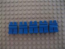 Cinque BLU LEGO MINI inferiore Parti del Corpo/Gambe/Pantaloni Nuovo di Zecca