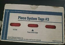 Piece system Tags #3 Dry Cleaning 900 Box - Red
