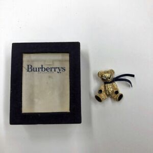 Teddy Bear Brooch Burberry Boxed Mint