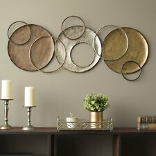 Modern Contemporary Style Abstract Metal Circles Wall Art Sculpture Home Decor