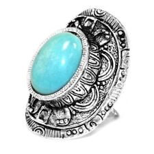 Turquoise Oval Stone Costume Rings