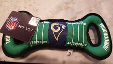 NFL Football Field Pet Toy for DOGS. Heavy-Duty, Durable toy with Squeaker. RAMS