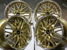 "18"" Gold 190 Alloy Wheels Fits Audi A4 A6 A8 TT RS Coupe Roadster Q2 Q3 Q5 5x112"