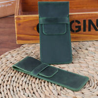 JW_ Retro Faux Leather Handmade Pen Holder Pencil Pouch Protective Sleeve Cove