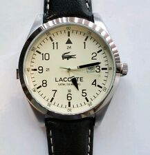 Lacoste Montreal 2010782 Watch With 44mm Beige Face & Black Leather Band