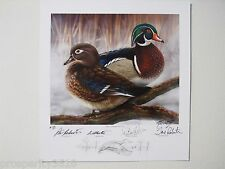 Duck Dynasty Signed Artist Proof Lithograph Phil Si Willie Jase Robertson #274