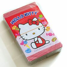 sanrio hello kitty red candy playing poker card with plastic box