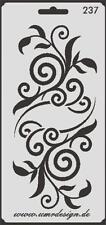 Scrapbook Stencil S-237  Schwirls ~ Craft ~ UMR-Design